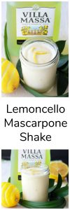 Our Lemoncello Mascarpone Shake Recipe is a sweet spring treat that's bursting with the unique Lemoncello liquor flavor! by cookingwithruthie.com