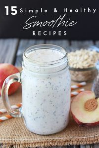 Our 15 Simple & Healthy Smoothie Recipes will keep you fueled through the day and who doesn't love a good smoothie?! This smoothie recipe post includes our favorite recipes along with some Smoothie 101 tips. These simple and healthy smoothies will be your favorite breakfast or snack! || cookingwithruthie.com #smoothies #healthysmoothie #smoothierecipe