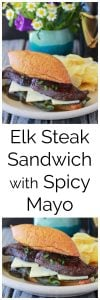 Elk Steak Sandwich with Spicy Mayo Recipe will bring a smile to all the wild game lovers in your family! by cookingwithruthie.com