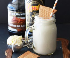 Kahlua Coffee Shake Recipe is bursting with flavors of coffee and cacao for a delightful summertime sweet treat! by cookingwithruthie.com