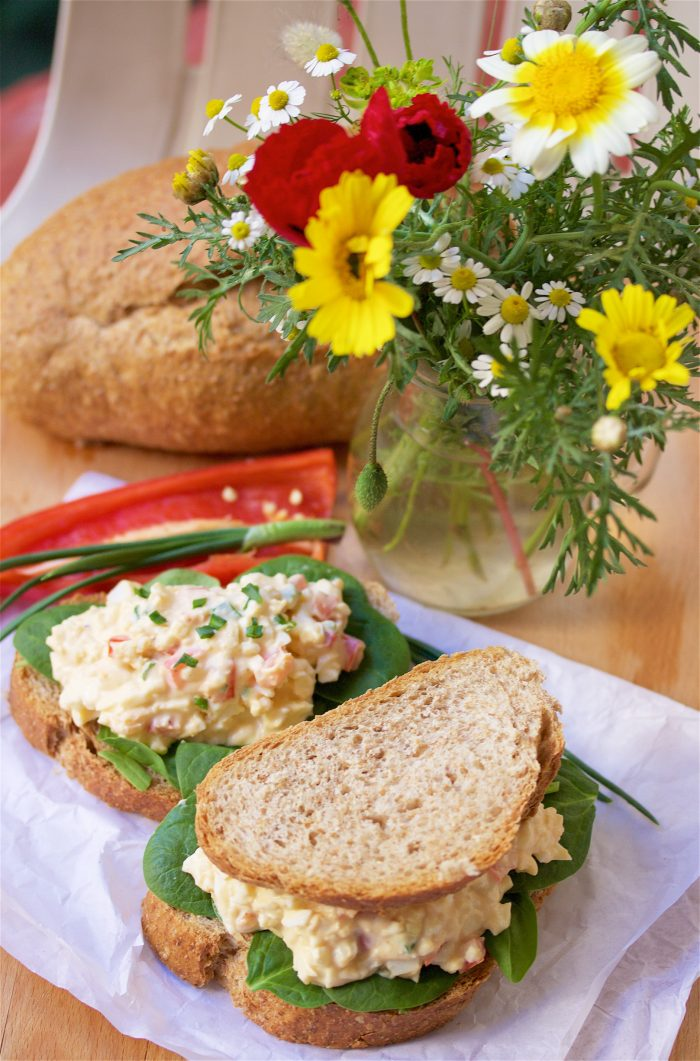 Mediterranean Egg Salad Sandwich Recipe to make your summertime picnics even more memorable! by cookingwithruthie.com