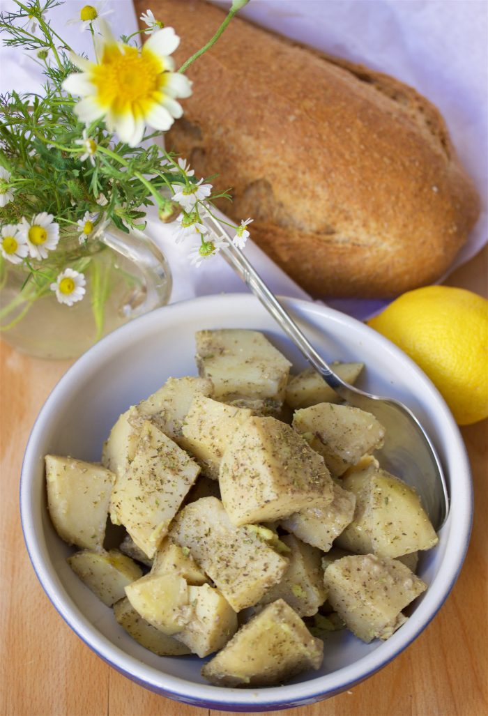 Mediterranean Roasted Lemon Potatoes Recipe are the side dish that will make any meal happy! by cookingwithruthie.com