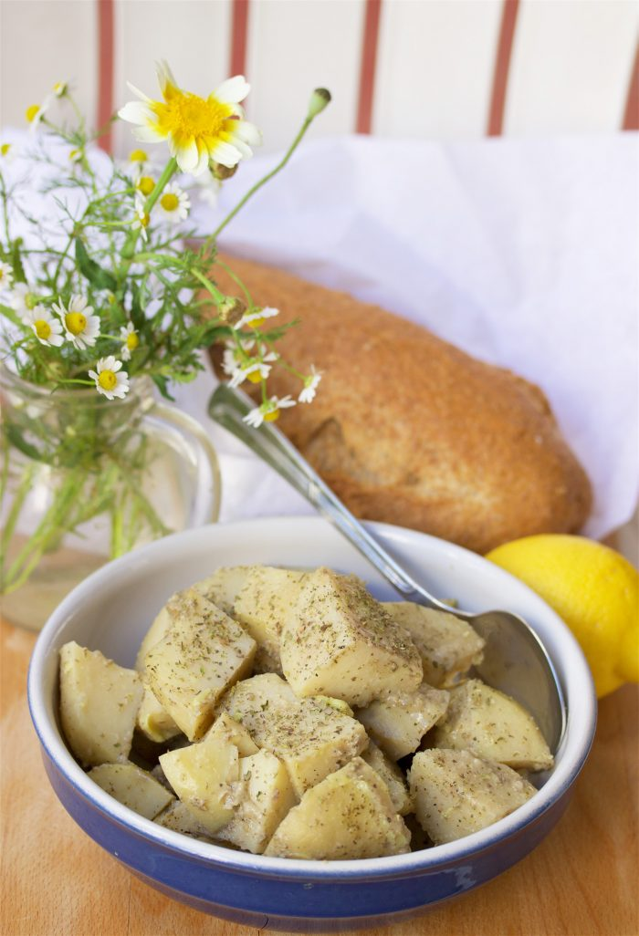 Mediterranean Roasted Lemon Potatoes are the side dish that will make any meal happy! by cookingwithruthie.com