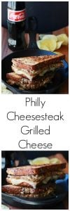 Philly Cheesesteak Grilled Cheese Recipe combines two classic sandwiches into one masterpiece! by cookingwithruthie.com