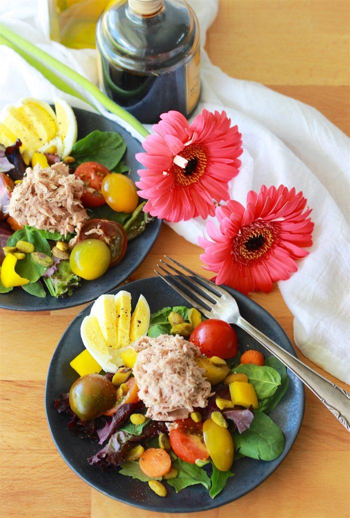 Albacore Tuna Mixed Green Salad Recipe 2