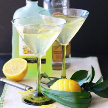 Lemoncello Vodka Martini Recipe is a lovely summer cocktail that you can make right at home! by cookingwithruthie.com