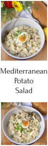 Mediterranean Potato Salad Recipe a sure win for all your summer gatherings! by cookingwithruthie.com
