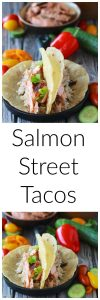 Salmon Street Tacos Recipe is sure to bring smiles to your dinner table! by cookingwithruthie.com
