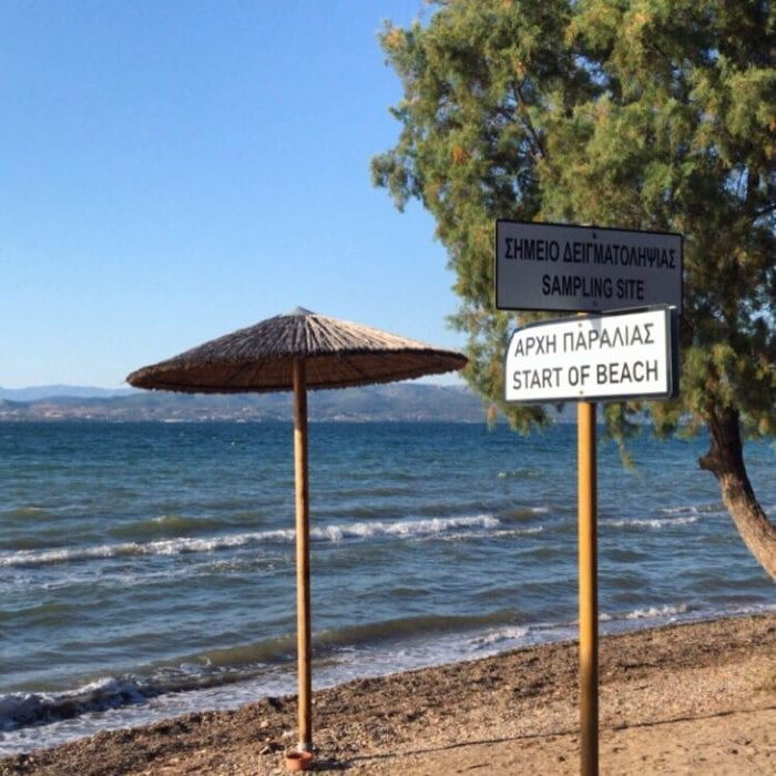 Beach in Delisi, Greece