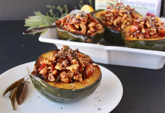 Our Acorn Squash with Maple Cream Filling Recipe is a delight from beginning to the table- it's sure to impress all your friends and family! by cookingwithruthie.com