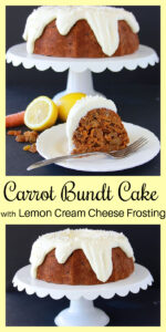 Carrot Bundt Cake With Lemon Cream Cheese Frosting Pin