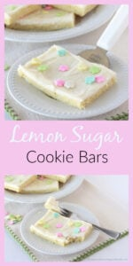 Our Lemon Sugar Cookie Bars are so delicious and simple to make for this springtime. The flavor of lemon combined with cream cheese is a fabulous experience! Enjoy! || cookingwithruthie.com #cookiebars #springcookiebars #springrecipe