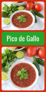 Today's Pico de Gallo Recipe is wonderful this time of year with the abundance of garden fresh vegetables! Our homemade salsa is made with tomatoes, onions, limes, cilantro, and jalapenos. Enjoy our pico de gallo recipe with chips tonight! || cookingwithruthie.com #picodegallo #mexicanfood #spicyrecipe