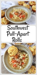 Today's Southwest Pull-Apart Rolls Recipe make a quick and easy side dish for any dinner! You will only need flakey butter biscuits, butter, cotija cheese, oregano, cumin, red pepper flakes, and salt. SO EASY!    cookingwithruthie.com #rollsrecipe #sidedishrecipe #dinnerrecipe #southwestrolls